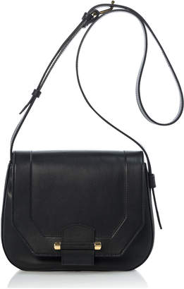 Joanna Maxham Enigma Shoulder Bag Black Leather (Gold Hardware)