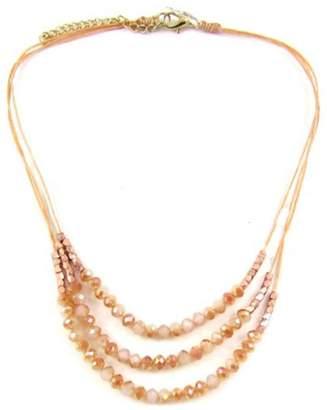 Ananda Orange Crystal Necklace