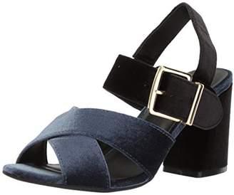 Kenneth Cole Reaction Women's Lilia Velvet Dress Flared Block Heel Heeled Sandal