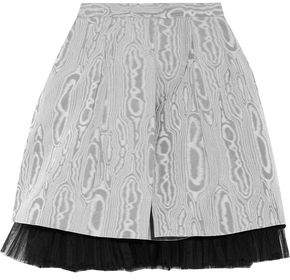 Marc By Marc Jacobs Moulded Tulle-Trimmed Printed Taffeta Mini Skirt