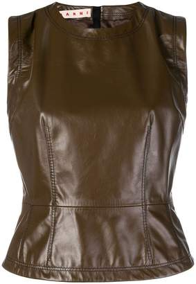 Marni leather sleeveless top