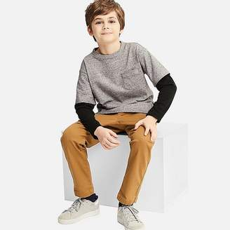 Uniqlo Kid's Layered Crewneck Long-sleeve T-Shirt