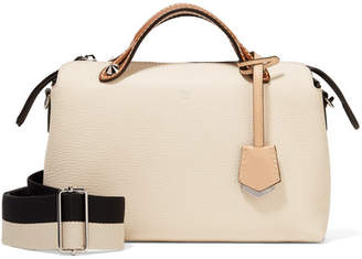 Fendi By The Way Small Color-block Textured-leather Shoulder Bag - Ivory
