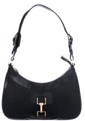 Gucci Leather & Canvas Hobo