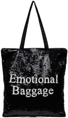 Ashish Black Emotional Baggage Sequin tote bag