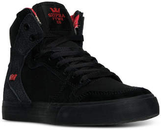 Supra Men's Vaider Casual Skate High Top Sneakers from Finish Line $89.99 thestylecure.com