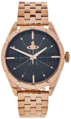 Vivienne Westwood Men's Conduit Bracelet Strap Watch- Rose Gold