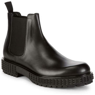 Valentino Ridged Leather Chelsea Boot