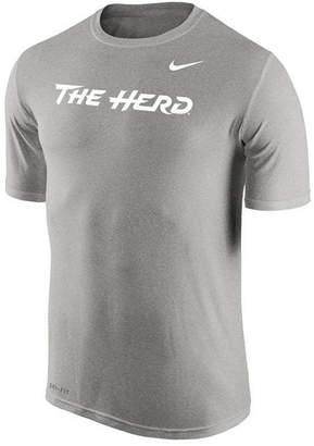 Nike Men's Marshall Thundering Herd Dri-Fit Legend Wordmark T-Shirt