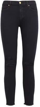 J Brand Indigo Distressed Skinny Jeans