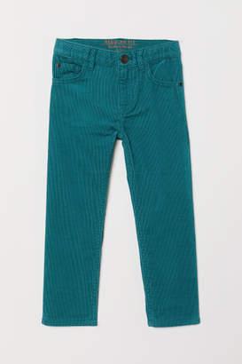 H&M Corduroy Pants - Turquoise