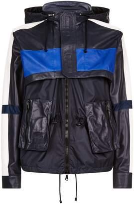 Valentino Layered Leather Raincoat