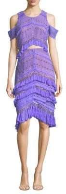 Thurley Candy Cold-Shoulder Tassel Dress