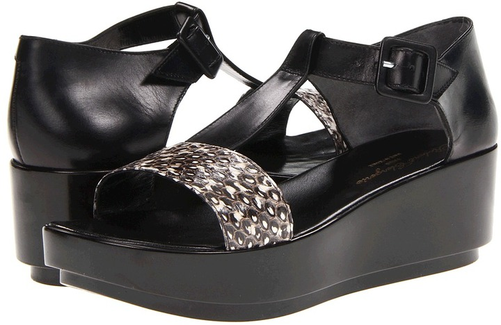 Robert Clergerie Pepo (Black/White Snake) - Footwear