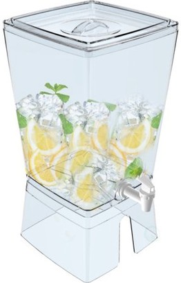 Basicwise Stackable Juice And Water Beverage Dispenser, 2.5 Gallon