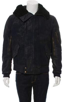 Balmain Coated Distressed Jacket