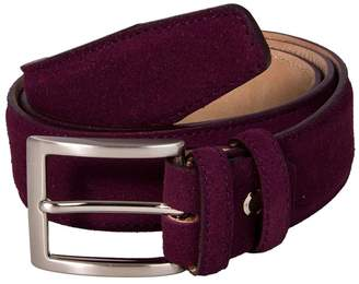 40 Colori - Burgundy Trento Leather Belt