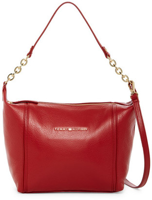 Tommy Hilfiger Eloise Leather Hobo Crossbody $148 thestylecure.com