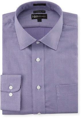 Neiman Marcus Classic-Fit Regular-Finish Diamond Dress Shirt, Purple