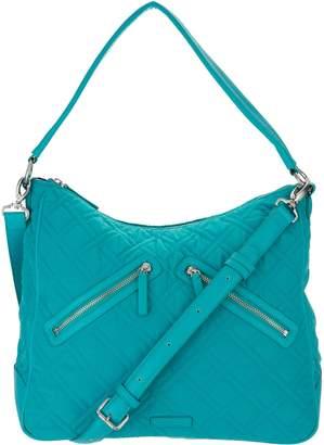Vera Bradley Microfiber Vivian Zip Top Hobo Handbag