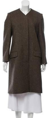 Hermes Wool Herringbone Coat