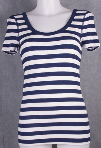 Three Dots Double Scoop Thermal Tee