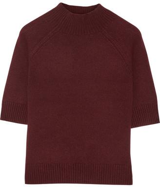 Theory - Jodi B Cashmere Sweater - Burgundy $345 thestylecure.com