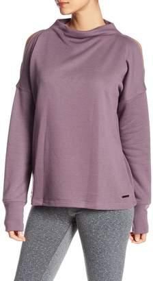 Donna Karan Cold-Shoulder Funnel Sweatshirt