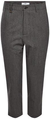 Oamc Cropped Pants with Fleece Wool