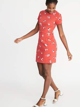10346fd6be30c Old Navy Printed Ponte-Knit Sheath Dress for Women