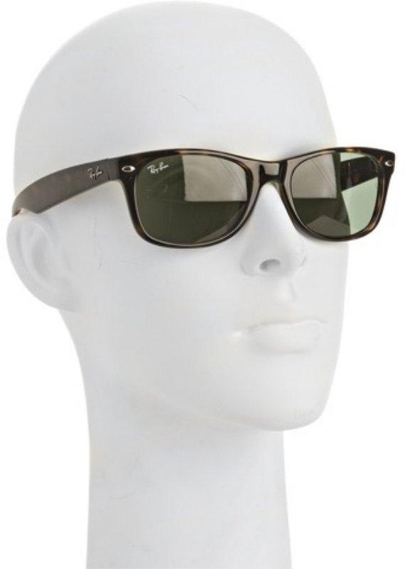 Ray-Ban brown tortoise print 'New Wayfarer' sunglasses