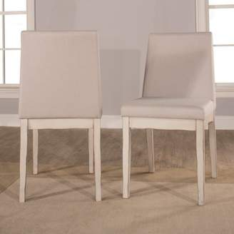 Hillsdale Furniture Clarion Upholstered Dining Chair, Set of 2, Sea White