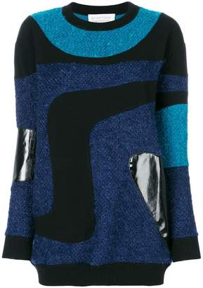 Gianluca Capannolo patched marble knit sweater