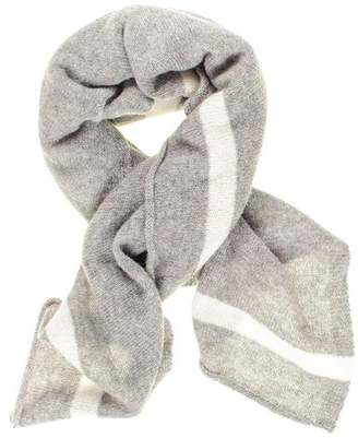 Black Grey and Ivory Cashmere Square Scarf