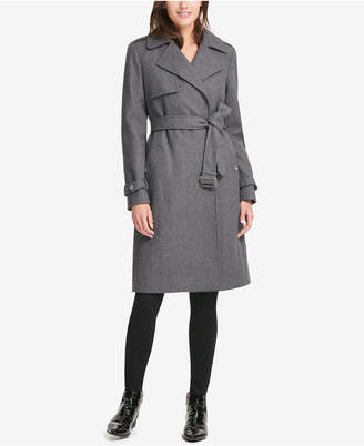 DKNY Belted Double-Breasted Trench Coat