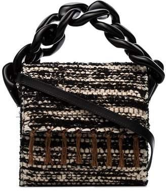 Marques Almeida Marques'almeida black, white and brown chunky chain woven shoulder bag
