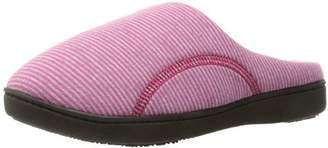 Isotoner Women's Athena Slip On Cushioned Slipper with All Around Memory Foam for Indoor/Outdoor Comfort