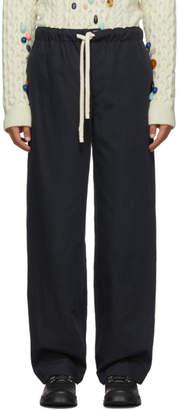 Loewe Navy Drawstring Trousers