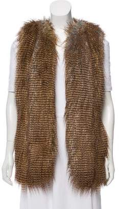 Twelfth Street By Cynthia Vincent Oversize Faux Fur Vest