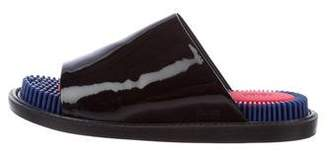 Kenzo Patent Leather Slide Sandals