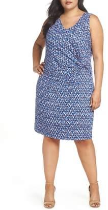 Nic+Zoe Triangle Tiles Sheath Dress