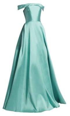 ML Monique Lhuillier Off-the-Shoulder Ball Gown