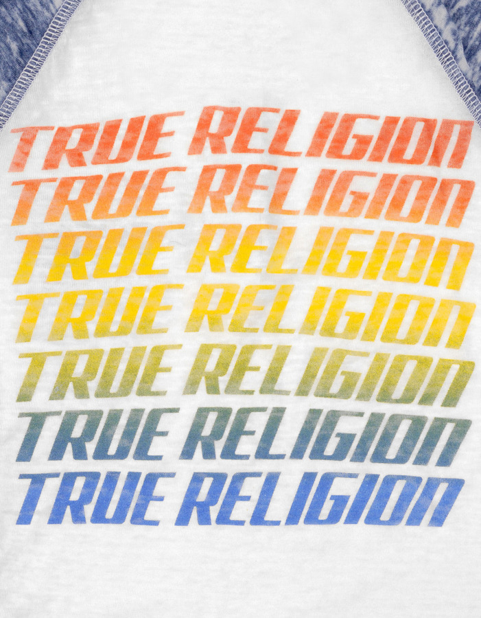 True Religion Boys Muscle Car Burnout Henley