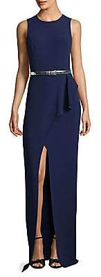 Michael Kors Women's Belted Wrap Gown