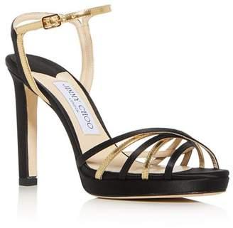 2f5ec369eab Jimmy Choo Women s Lilah 100 High-Heel Platform Sandals