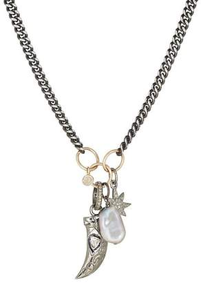 Feathered Soul Men's Star Totem Charm Necklace - Silver