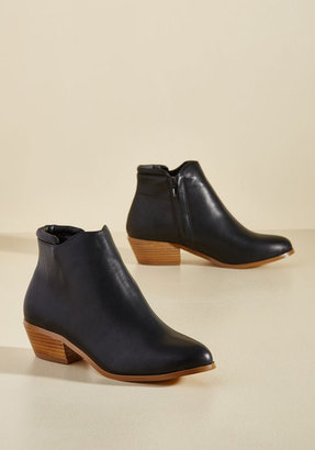 ModCloth Well-Versatiled Bootie in Black in 9 $44.99 thestylecure.com