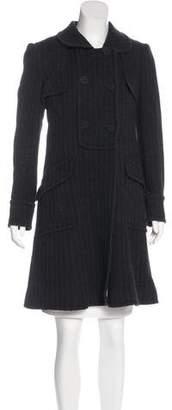 Alberta Ferretti Double-Breasted Knee-Length Coat