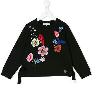 Simonetta flower embroidered sweatshirt