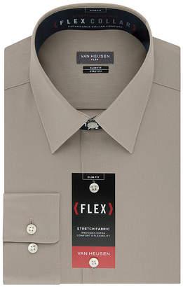 Van Heusen Flex Collar Slim Fit Long Sleeve Twill Dress Shirt
